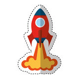 Rocket launcher isolated icon Stock Photography