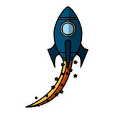 Rocket launcher isolated icon Stock Photo
