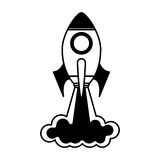 Rocket launcher isolated icon Stock Photos
