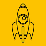 Rocket launcher isolated icon Royalty Free Stock Photos