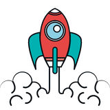 Rocket launcher isolated icon Royalty Free Stock Images
