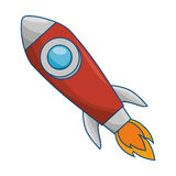 Rocket launcher isolated icon. Vector illustration design Stock Photography
