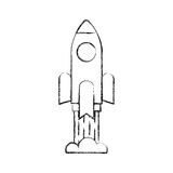 Rocket launcher isolated icon. Vector illustration design Royalty Free Stock Image