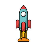 Rocket launcher isolated icon. Vector illustration design Stock Images