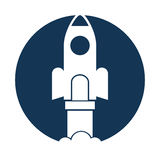 Rocket launcher isolated icon Royalty Free Stock Image