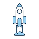 Rocket launcher isolated icon. Vector illustration design Royalty Free Stock Photo