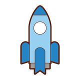 Rocket launcher isolated icon. Vector illustration design Stock Image