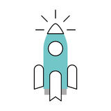 Rocket launcher isolated icon. Vector illustration design Stock Photo