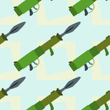 Rocket launcher seamless background design Royalty Free Stock Photo