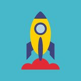 Rocket launcher startup icon Stock Images
