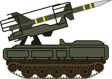 Rocket launcher. Vector simple artwork Stock Photography