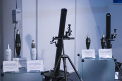Rocket launchers on display Stock Image