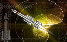 Rocket launching Stock Image