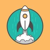 Rocket launching up Stock Photos
