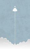 Rocket liftoff vector illustration