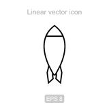 Rocket. Linear  icon. Stock Photos