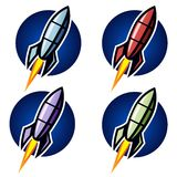 Rocket logo Stock Image