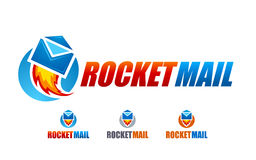 Rocket Mail Logo Royalty Free Stock Images
