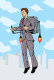 Rocket man Royalty Free Stock Images
