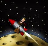 Rocket-Mann reist für Arbeit Stockbild