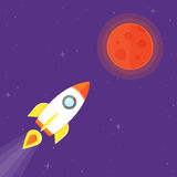 Rocket and Mars Planet Stock Photography