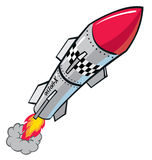 Rocket Missle. Taking off powerfully vector illustration