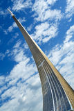Rocket a monument. Monument to subjugators of space in Moscow (Russia Royalty Free Stock Images