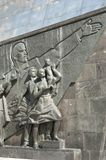 The Rocket monument, bas-relief Stock Photography