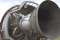 Rocket Motor 1. A rocket motor at the bottom of a missile on its side stock images