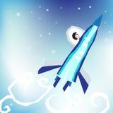 Rocket no céu Ilustração do Vetor