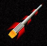 Rocket no espaço Imagens de Stock