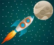 Rocket no espaço Foto de Stock Royalty Free