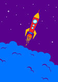 Rocket no espaço Imagem de Stock
