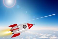 Rocket no espaço Fotografia de Stock