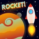 Rocket no espaço profundo Imagens de Stock Royalty Free