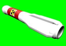 Rocket nuclear Fotografía de archivo libre de regalías