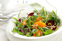 Rocket with orange and beetroot salad Stock Images