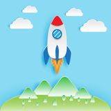Rocket Papercut Stock Image