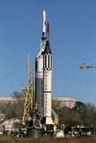 Rocket Park bei Johnson Space Center Stockbilder