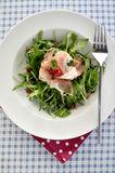 Rocket and parma ham salad Royalty Free Stock Photos