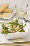Rocket and parmesan salad. Royalty Free Stock Images