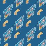 Rocket pattern Stock Images