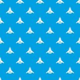 Rocket pattern seamless blue Stock Photo