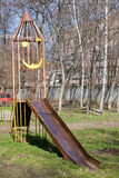 Rocket playground for kids Stock Photo