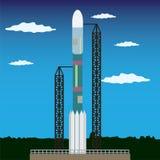 Rocket pronto a lanciare Immagini Stock Libere da Diritti