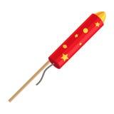 Rocket Pyrotechnic Firework Made hors du tube de papier Images stock