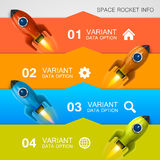 Rocket racing info art cover Stock Photo