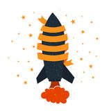 Rocket Ribbon Copyspace Stock Photography