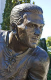 Rocket Richard Statue. Statue of Maurice The Rocket Richard who was the most prolific hockey goal scorer of his era. He had intense eyes. He is regarded as a Royalty Free Stock Images
