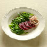 Rocket salad, lebanese food. Rocket and beetroot salad, lebanese and mediterranean cuisine Stock Photos